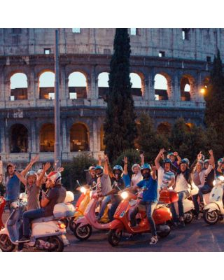 Combo Vespa Panoramic Tour and Colosseum entrance starting from your Hotel