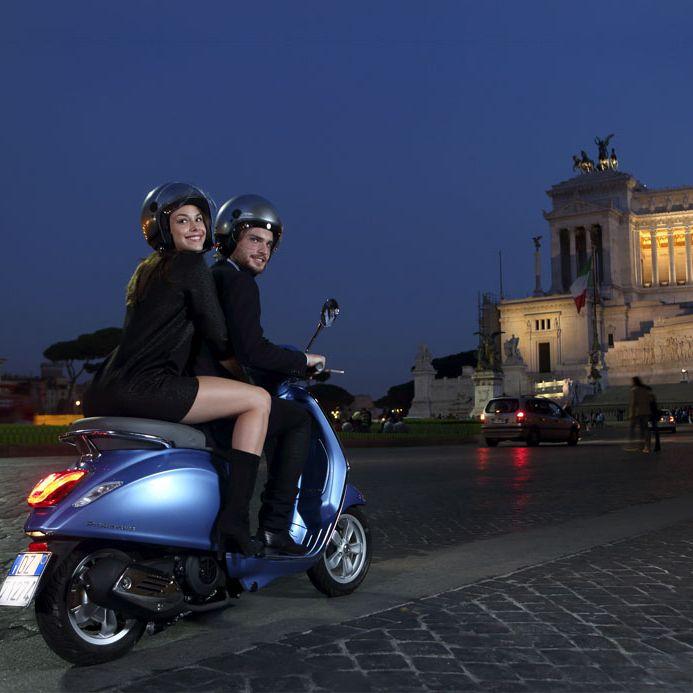 ROME SUNSETS BY VESPA